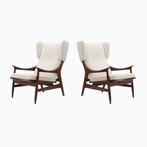 Mid-Century Italian Armchairs from Framar, Set of 2