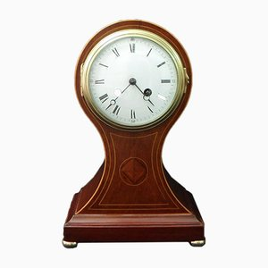 French Belle Epoque Mahogany Mantel Clock from Japy Freres