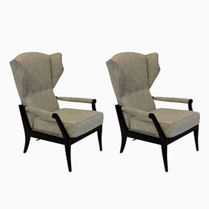Mid-Century Italian Reclining Lounge Chairs, Set of 2