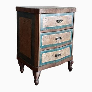 Small Antique Biedermeier Inlaid Commode