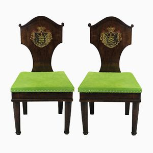 Chaises d'Entrée Antiques en Acajou, 1780s, Set de 2