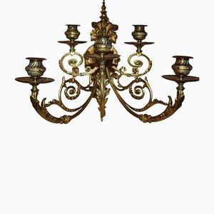 Große Wandleuchte aus vergoldeter Bronze im Empire-Stil, 19. Jh.