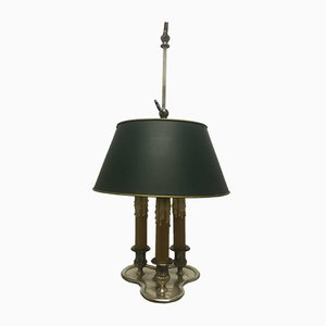 Silvered Bouillotte Table Lamp, 1940s