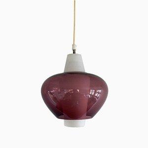 Lampe à Suspension NG68 E/01 en Verre par Louis Kalff pour Philips, 1960s