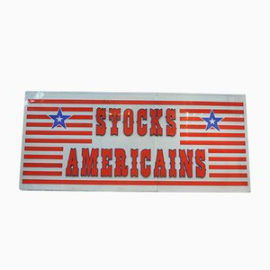 Large Stocks Americains Store Sign, 1970s