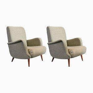 806 Armlehnstühle von Carlo de Carli für Cassina, 1955, 2er Set