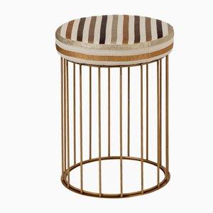 Tabouret Cage par Niccolo par De Ruvo pour Brass Brothers