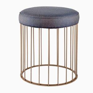 Tabouret Cage par Niccolo De Ruvo pour Brass Brothers
