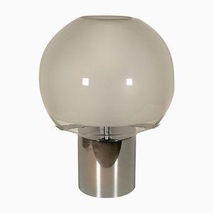 Glass and Metal Table Lamp by Luigi Caccia Dominioni, 1970s