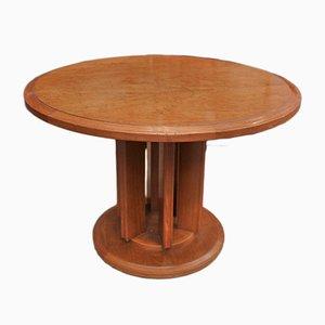 Mesa pedestal Art Déco de caoba y tuya, años 20