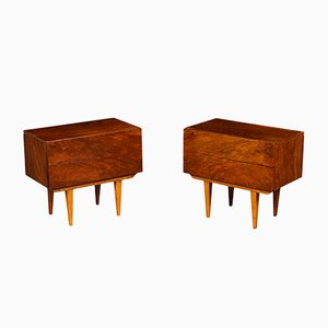Argentinian Veneered Nightstands, 1950s, Set of 2