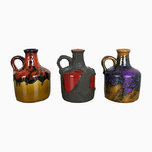 Ceramic Studio Pottery Vases from Roth, 1970s, Set of 3