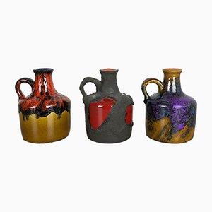 Jarrones Studio de cerámica de Roth, años 70. Juego de 3