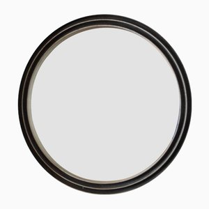 Round Engraved Aluminum Mirror by Lorenzo Burchiellaro, 1960s