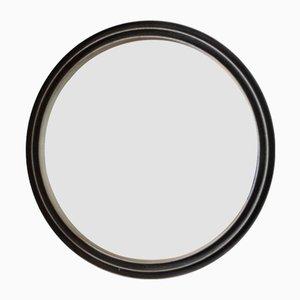 Specchio rotondo in alluminio inciso di Lorenzo Burchiellaro, anni '60