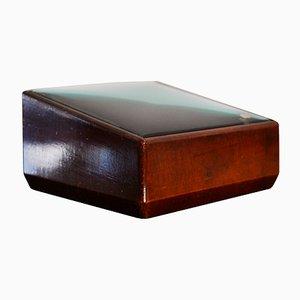 Caja de madera y cristal tallado de Fontana Arte, años 40