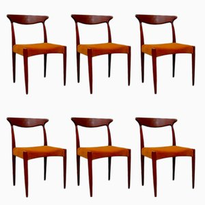 Vintage Dining Chairs by Arne Hovmand-Olsen for Mogens Kold, 1960s, Set of 6