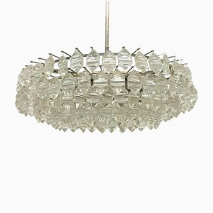 Silvered Brass & Glass Chandelier from Bakalowits & Sohne, 1960s