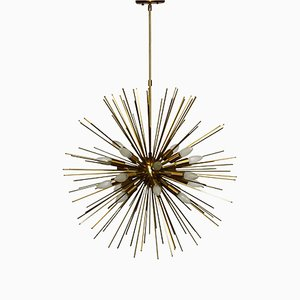 Large Twenty-Light Brass Sputnik Chandelier, 1990s