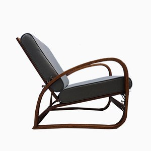 Model H70 Bentwood Armchair by Jindřich Halabala for Thonet, 1930s