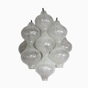 Tulipan Bubble Glass Wall Lights from Kalmar, 1970s, Set of 2