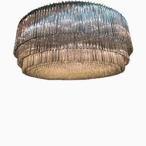 Großer Kronleuchter aus Muranoglas, 1960er