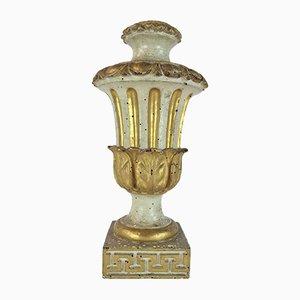 Vase Style Louis XVI Laqué Doré, 1700s