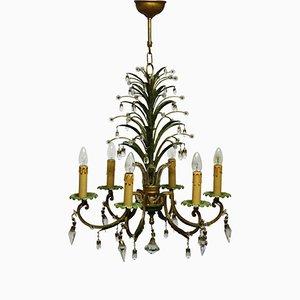 Lámpara de araña de cinco luces de Maison Baguès, años 50