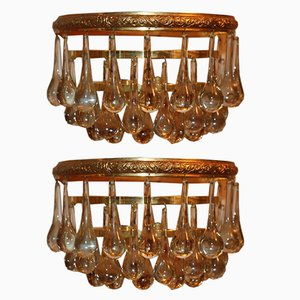 Mid-Century Murano Glass Wall Sconces by Ernst Palme, Set of 2