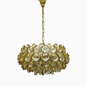 Lámpara de techo grande dorada de Sciolari para Palwa, años 60