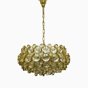 Large Gold-Plated Ceiling Lamp by Sciolari for Palwa, 1960s