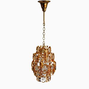 Gold-Plated Ceiling Lamp from Palwa, 1960s
