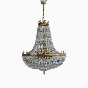 Grand Lustre Style Empire en Cristal de Palwa, 1960s