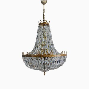 Large Empire Style Crystal Chandelier from Palwa, 1960s