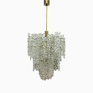 Mid-Century Brass and Crystal Chandelier from Kinkeldey, 1960s