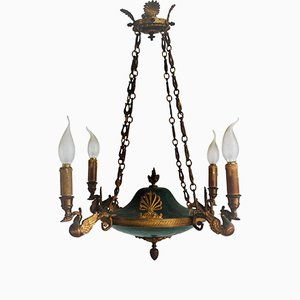 Empire Style French 4-Light Chandelier, 1870s