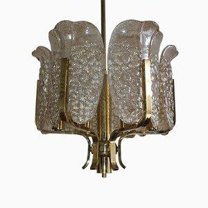 Lampadario in vetro di Carl Fagerlund per Orrefors, anni '60