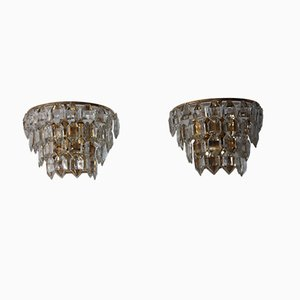 Mid-Century Austrian Crystal Sconces from Bakalowits & Söhne, 1960s, Set of 2
