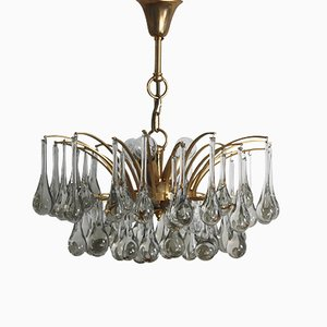 Murano Glass and Brass Chandelier, 1970s