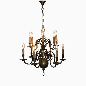 Antique Dutch Brass Chandelier