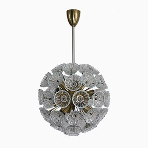 Floral Sputnik Glass Chandelier, 1960s