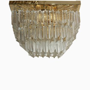 Clear Murano Glass Flush Mount, 1970s