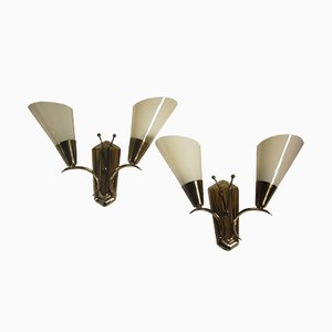 Wall Sconces by Paavo Tynell, 1950s, Set of 2