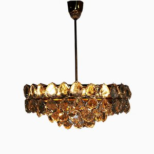 Large Brass and Glass Chandelier from Bakalowits, 1960s