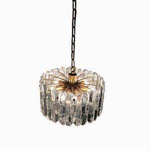 Lámpara de araña Palazzo de vidrio y latón dorado de Kalmar, años 70