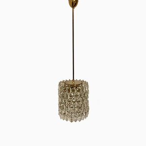 Brass and Glass Chandelier by Bakalowits & Sohne, Austria, circa 1960s
