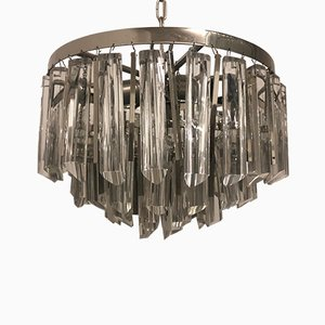 Crystal and Nickel Chandelier from Palwa, 1970s