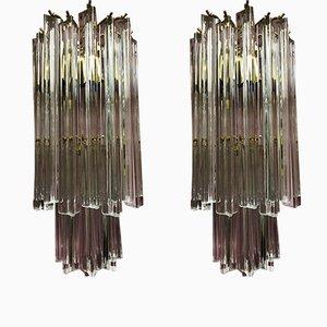 Applique in vetro di Murano di Venini, Italia, anni '60, set di 2