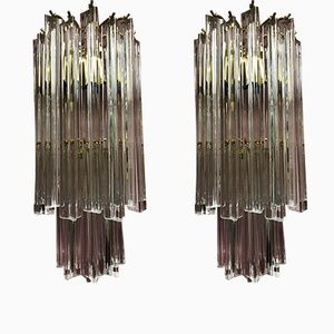 Italian Murano Glass Sconces from Venini, 1960s, Set of 2