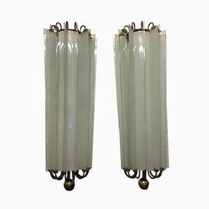 Große deutsche Art Deco Wandlampen, 1930er, 2er Set